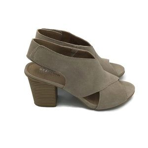 Kenneth Cole Reaction Carliove Suede Open Toe Heel